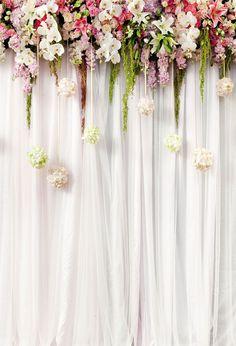 Happy Birthday Backdrop White Background Curtains Backdrops J04272