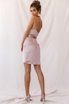 Order the Bebe Satin Cowl Neck Wrap Dress Rose Gold only at Selfie Leslie! Sequin Midi Dress, Neck Wrap, Girls Night Out, Satin Dresses, Cowl Neck, Wrap Dress, Model, Rose Gold, Bebe