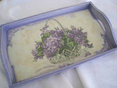BANDEJA Decoupage, Decoration, Tray, Paint, Game Boards, Napkin, Etchings, Madeira, Painted Trays