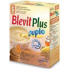 BLEVIT Plus Duplo Papilla 8 Cereales con Miel y Galletas María 600g.