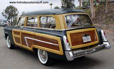 "woodie automobile | 1952 Mercury ""Custom Series"" Woodie Station Wagon"