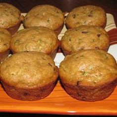 Made healthier by using whole wheat flour, 2 cups zucchini, applesauce instead of oil, almond milk and 1/3 cup of sugar.