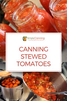 Canning Stewed Tomatoes Recipe: Easy Recipe Using LOTS of Vegetables Canning Stewed Tomatoes gives you a versatile ingredient. I use it as a base for stews. I use it in my chili. I will pour it over a roast in a Crockpot. Learn how to make your own! Stewed Tomato Recipes, Canning Stewed Tomatoes, Canning Vegetables, How To Stew Tomatoes, Pressure Canning Recipes, Home Canning Recipes, Dinner Recipes, Cooking Recipes, Canning Recipes