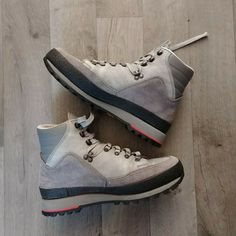 Hanwag Sport Mens Size 8 gray Leather Suede Hiking Boots Germany Lace Up High Top Boots, Ski Boots, Hooded Raincoat, Desert Boots, Winter Shoes, Hiking Shoes, Grey Leather, Suede Shoes, Mens Xl