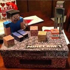 Get Creative with this Minecraft Valentine's Day Box! Your kid will be the hit of the class party!