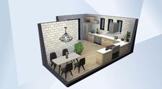 Casas The Sims Freeplay, Sims Freeplay Houses, Sims 4 House Plans, Sims 4 Kitchen, Sims 4 House Design, Casas The Sims 4, Sims Building, Sims 4 Characters, My Sims