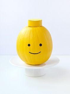 Painted Pumpkin LEGO Heads   Handmade Charlotte