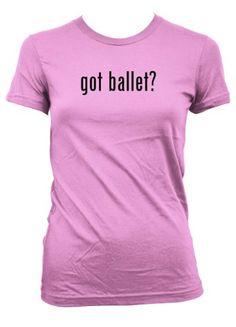 $13.99 got ballet? American Apparel Juniors Cut Womens T-Shirt Pink Small