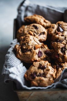 Soft chewy wheat-free cookies loaded with nuts, seeds, dried fruit and chocolate chunks Gourmet Cookies, Gluten Free Cookies, Trail Mix Cookies, Cookies Soft, Sandwiches, Best Cookie Recipes, Keto Recipes, Healthy Recipes, Dessert Recipes