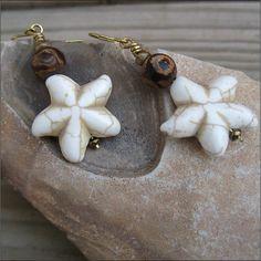 Sea star earrings mermaid earrings Sea star by Helenadesignsart