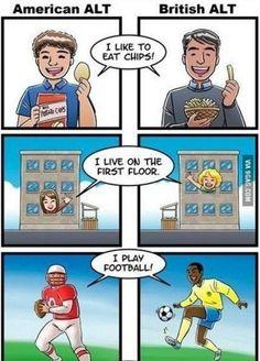 Comic – American ALT vs British ALT