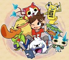 Yo-Kai Watch | Nate (Keita), Whisper, Jibanyan, Komasan, Walkappa, Roughraff, Happierre, and So-Sorree
