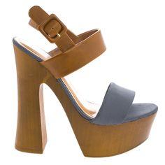 Nadine04N Curvy Open Toe Sling Back Platform Chunky Heeled Sandals