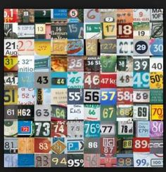 License tag numbers