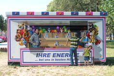 Art-EFX-Trafostation als Wurfbude auf Rummel, #artefx, #murals, #muralpainting, #streetart, #graffitiauftrag, #substation, #illusionsmalerei, #haldensleben