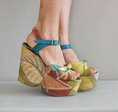 1940s barkcloth platforms.