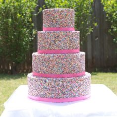 Sprinkle covered cake= awesome!