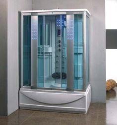 Munderin 1350mm x 800mm Steam Shower Bath Enclosure Cabin | Furniture Store UK