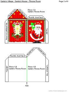 3-D Santa's House Page #2