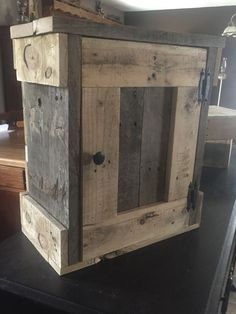 This cabinet was custom made as a mail cabinet. Dimensions are 18wx20hx10d and…