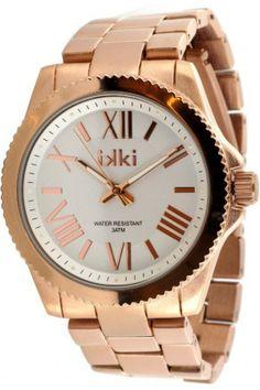 Dames horloges - IKKI Jessica Rose Gold/Silver horloge JE-05 horloge