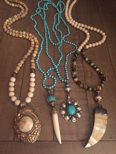 Beaded one of a kind necklaces. Email lisajilljewelry@gmail.com for prices, info and to purchase.
