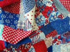 Baby Quilt - Red, White and Blue Baby (Free U.S. Shipping) on Etsy, $100.00