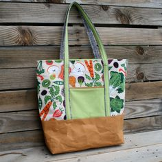 Instant Download PDF Pattern for Quick and Simple Large Tote // Stylish Sturdy Tote // Made Either with kraft·tex™, Recycled Jeans & More!