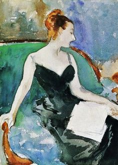 John Singer Sargent, Madame Gautreau....never seen this version before, but Madame X is my favorite painting ever...