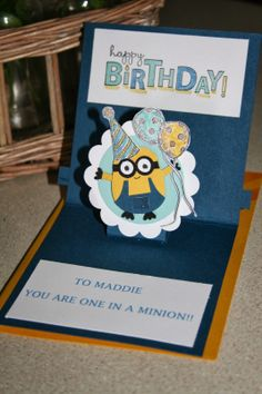 Cards on the table with Vicki: An Extra Special Birthday Card for Time Travellers. Dr. Who, Minions, Punch Art.