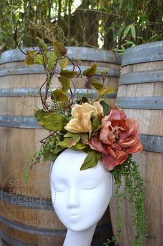 Floral Headdress by ScarletHarlow on Etsy