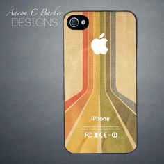 iPhone 4S / iPhone 4 Retro Rainbow Case by AaronCBarber on Etsy