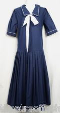 VINTAGE LAURA ASHLEY SAILOR DRESS WEDDING 20s GATSBY FLAPPER 30s 40s 50s BEAUTY