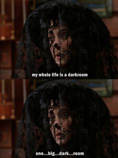 "Beatlejuice ""My whole life is a darkroom. One...big...dark...room."""