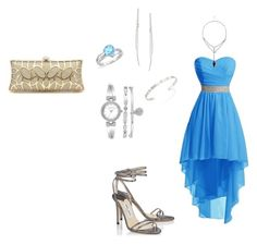 """""""prom"""" by annie-zz on Polyvore featuring Jimmy Choo, Anne Klein, Amanda Rose Collection, Gucci and ABS by Allen Schwartz"""