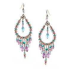 Multi Pastel Chandelier Earrings by TezzoroDesigns on Etsy