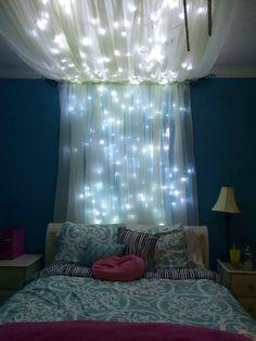 Bellissima idea di decorare con la luce la cameretta ragazzi/ragazze - fai da te - effetto cielo stellato, mille luci - Start Preventivi