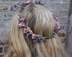 Sommer-Haze getrocknet Flower Hair Krone von EnglishFlowerFarmer
