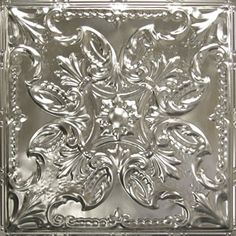 Tin ceiling tile made of authentic tin plated steel. Available in 50 powder coated colors, which resists moisture and rusting. Unfinished Product: 3-7 business days, Powder Coated Items: 2-3 weeks, Artisan Colors: 4 weeks http://americantinceilings.com/colors/pattern-14.html