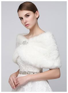 Sarahbridal Women's Shawl Wrap Faux Fur Scarf Stoles for Wedding Dresses | Winter Wedding Ideas ** You can get additional details at the image link. (This is an affiliate link) #WinterWeddingIdeas