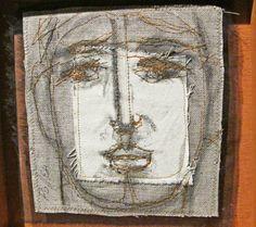 """Jason Pollen, 48 Prophets, 2011  canvas, silk, thread, dye, pigment, graphite,  10.5"""" x 10.5"""" each piece   http://jennifercoynequdeen.blogspot.jp/2012/03/philadelphia-jason-pollen.html"""