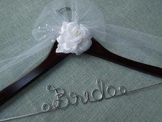 Wedding Dress Hanger  Bridal Hanger Bridal Shower by DivineDays