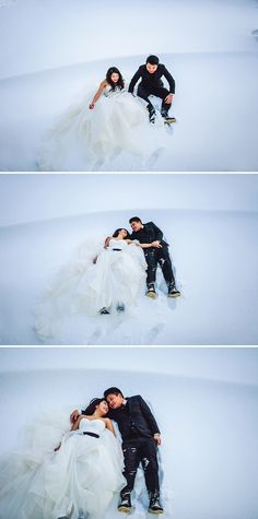 Eternal Sunshine of the Spotless Mind inspired engagement // Daniel and Singhui's Arctic Engagement