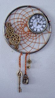 Recycle Reuse Renew Mother Earth Projects: How to make Steam punk Dream Catchers