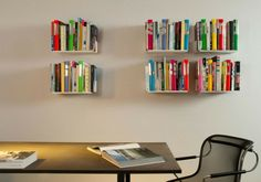 Wall shelves bookshelves In the Homeaffice