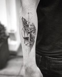 60 Amazing Wolf Tattoos - The Best You'll Ever See - Page 6 of 6 - Wolf Tattoos, Wolf Tattoo Forearm, Forearm Sleeve Tattoos, Body Art Tattoos, Small Tattoos, Tattoos For Guys, Lone Wolf Tattoo, Wolf Tattoo Design, Tattoo Designs