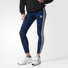adidas Blue Floral Leggings - Multicolor | adidas US