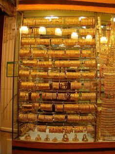 Gold, gold and more gold in the Dubai Gold Souk