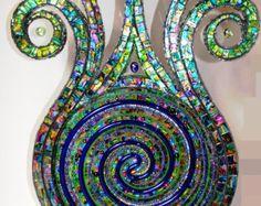 Arte del mosaico mosaico escultura y neón por NikkiEllaWhitlock