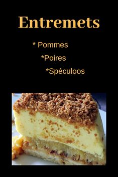 Tiramisu Speculoos, Sweet Tooth, French Toast, Pudding, Sweets, Apple, Cooking, Breakfast, Ethnic Recipes